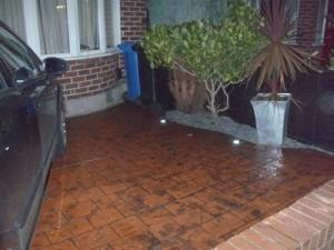pattern imprinted concrete driveways in runcorn