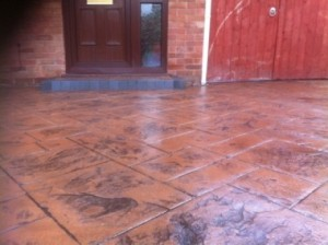 specialists in the installation of pattern imprinted concrete driveways in runcorn