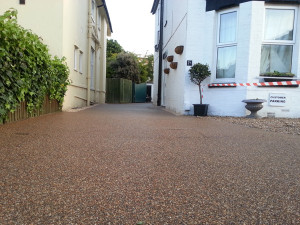 recent contract for stone resin driveways in runcorn